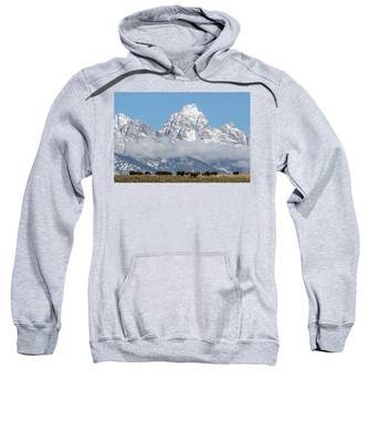 Bison In The Tetons Sweatshirt