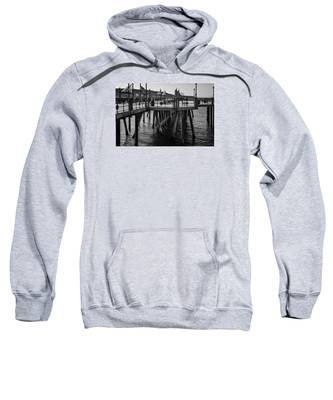 Black And White On The Pier Sweatshirt