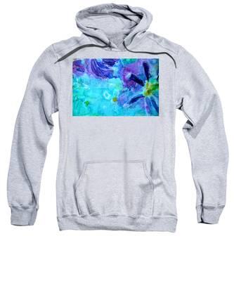 Blue Water Flower Sweatshirt