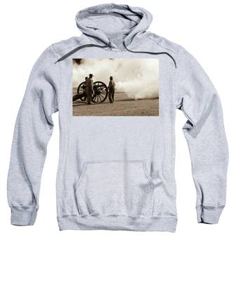 Civil War Era Cannon Firing  Sweatshirt