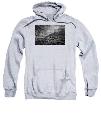 Clouds Over The River Rocks Sweatshirt