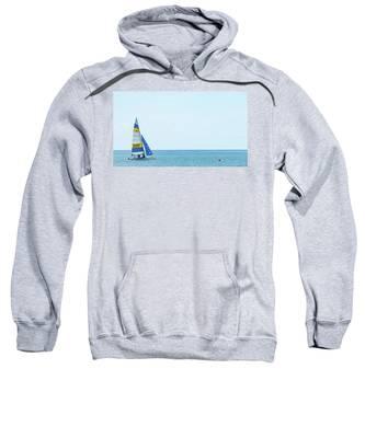 Colorful Catamaran 3 Delray Beach Florida Sweatshirt
