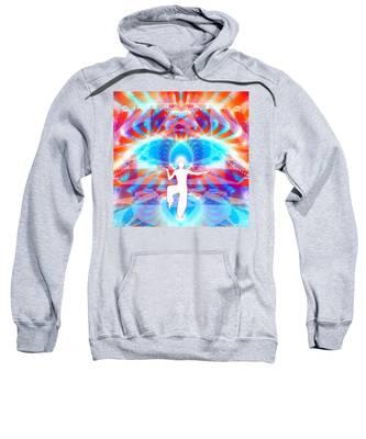 Cosmic Spiral 77 Painted Sweatshirt by Derek Gedney