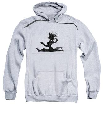 Sweatshirt featuring the painting Dancer by Manuel Sueess