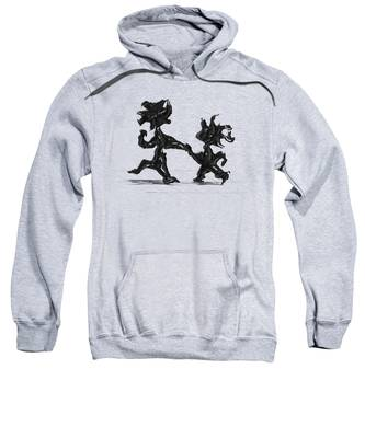 Sweatshirt featuring the painting Dancing Couple 6 by Manuel Sueess