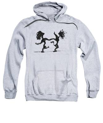 Sweatshirt featuring the painting Dancing Couple 8 by Manuel Sueess