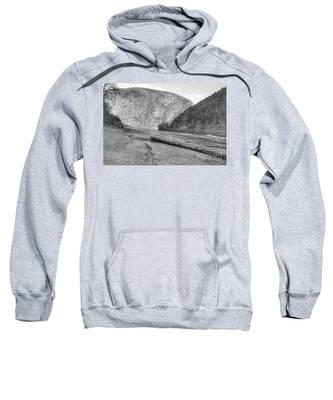 Delaware Water Gap In Winter Sweatshirt
