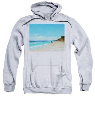 Ditch Plains Beach Montauk Hamptons Ny Sweatshirt