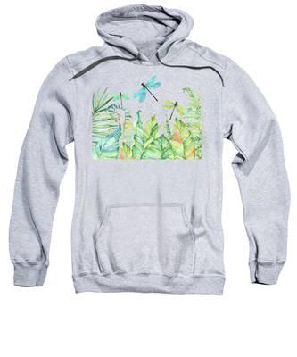 Dragonfly and Flower Womens Sports Long Sleeve Crop Hoodie Sweatshirt Top Pullover Hooded Sweatshirt
