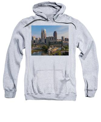 Early Morning Transport On The Cuyahoga River Sweatshirt by Lon Dittrick