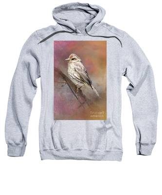 Female Sparrow On Branch Ginkelmier Inspired Sweatshirt