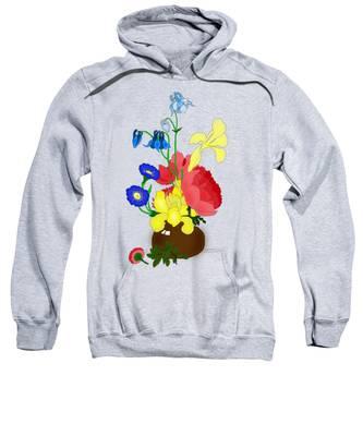 Floral Still Life 1674 Sweatshirt