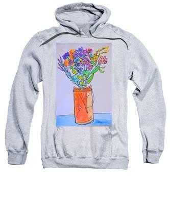 Flowers In An Orange Mason Jar Sweatshirt