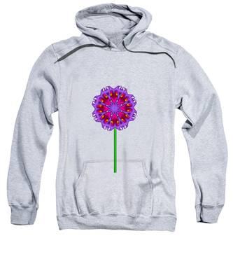 Fractal Flower Garden Flower 01 Sweatshirt