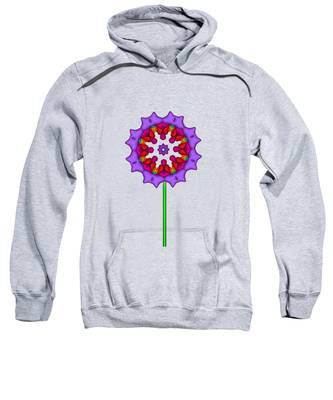 Fractal Flower Garden Flower 02 Sweatshirt