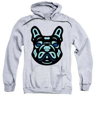 French Bulldog Francis - Dog Design - Hazelnut, Island Paradise, Lapis Blue Sweatshirt by Manuel Sueess