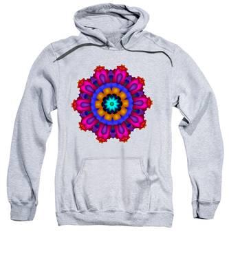 Glowing Fractal Flower Sweatshirt