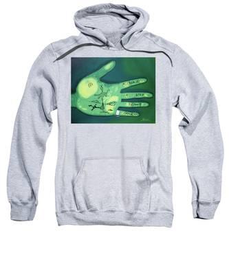 Hand Print Sweatshirt