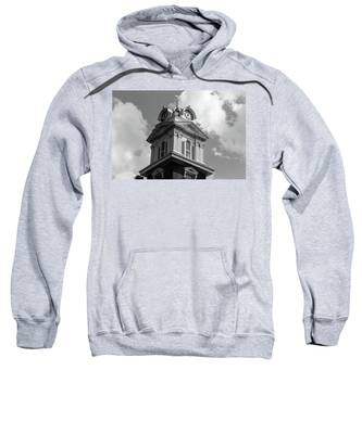 Historic Courthouse Steeple In Bw Sweatshirt
