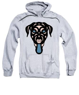 Labrador Dorianna - Dog Design - Island Paradise, Pale Dogwood,  Niagara Blue Sweatshirt by Manuel Sueess