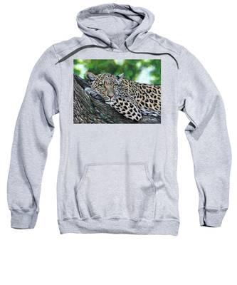 Leopard On Branch Sweatshirt