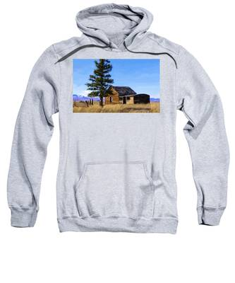 Sweatshirt featuring the painting Memories Of Montana by Susan Kinney