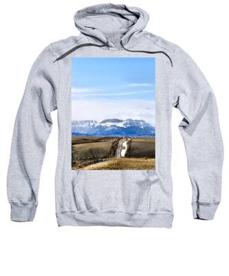 Sweatshirt featuring the photograph Montana Scenery One by Susan Kinney
