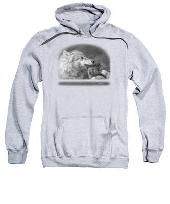 Mother's Love - Black And White Sweatshirt