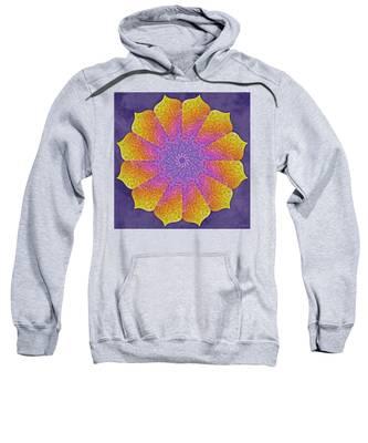 Sweatshirt featuring the digital art Mothers Womb by Derek Gedney