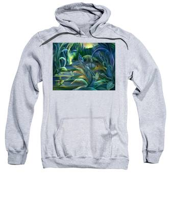 Mural  Insects Of Enchanted Stream Sweatshirt