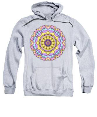 Pastel Fractal Mandala 01 Sweatshirt