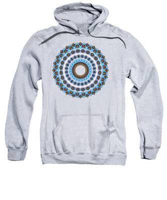 Peacock Fractal Mandala I Sweatshirt