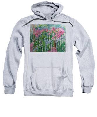 Perky Pink Phlox In A Dahlonega Garden Sweatshirt
