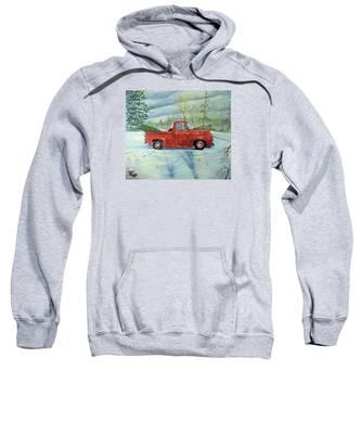 Picking Up The Christmas Tree Sweatshirt