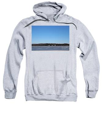 Poconos, The Lake In January Sweatshirt