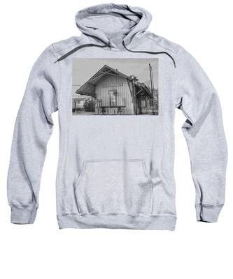Pompton Plains Railroad Station And Baggage Cart Sweatshirt