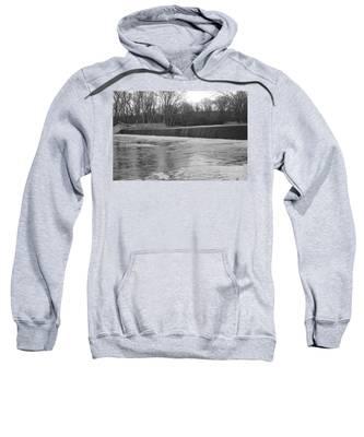 Pompton Spillway In January Sweatshirt
