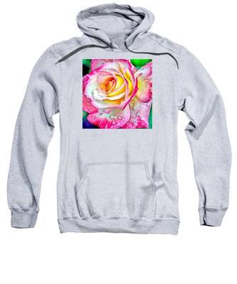 Radiant Rose Of Peace Sweatshirt