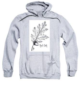 Red Oak Leaf And Acorn Sweatshirt