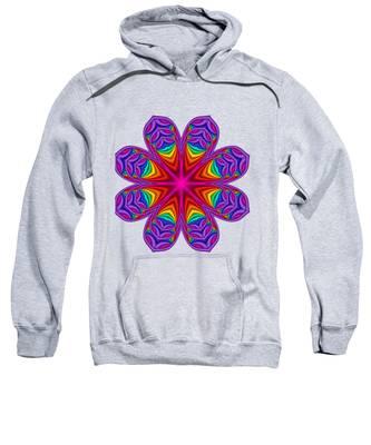 Satin Fractal Flower 3 Sweatshirt