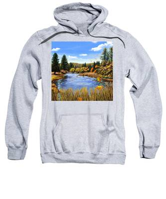 Sweatshirt featuring the painting Seeley Montana Fall by Susan Kinney
