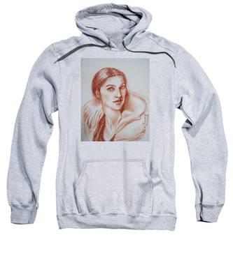 Sketch In Conte Crayon Sweatshirt