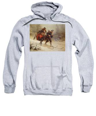 Skiing Birchlegs Crossing The Mountain With The Royal Child Sweatshirt