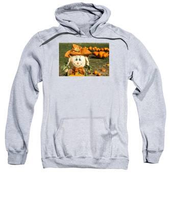 Smiling Scarecrow With Pumpkins Sweatshirt
