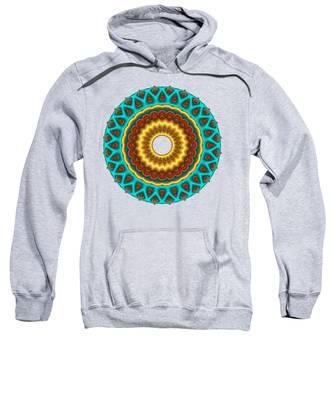 Southwestern Peacock Fractal Mandala Sweatshirt