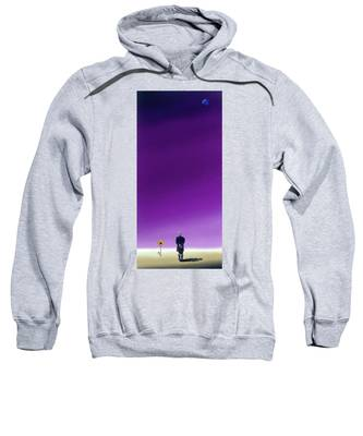 Standing Alone Waiting For The Bowling Balls To Fall When Night Comes Sweatshirt