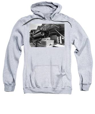 Steam Locomotive Side View Sweatshirt