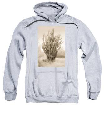 Tall Cactus In Sepia Sweatshirt