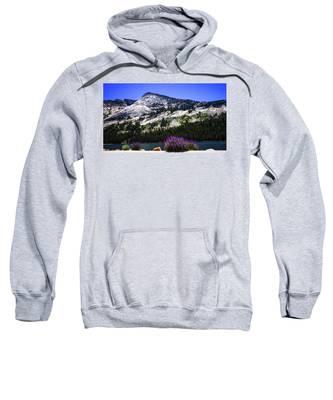 Tanaya Lake Wildflowers Yosemite Sweatshirt