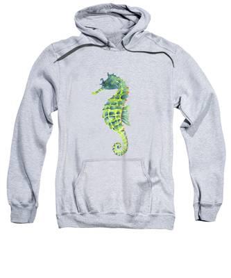 Teal Green Seahorse - Square Sweatshirt